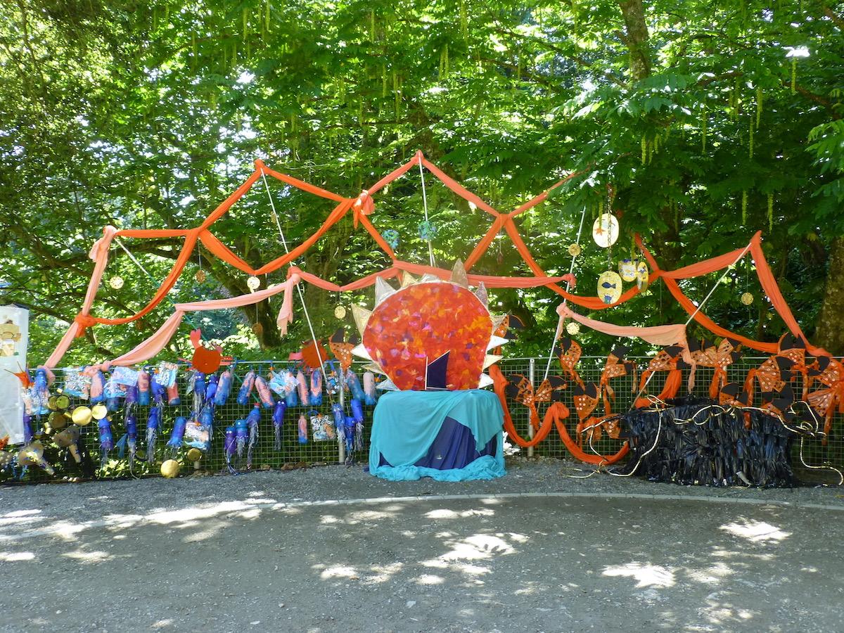 Sculptures, children's artwork